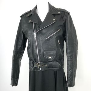 Vintage UNIK | Genuine Leather Biker Moto Jacket
